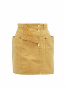 Jacquemus - Nimes Fold Front Denim Miniskirt - Womens - Beige