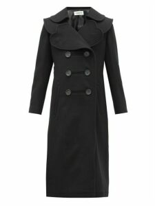 Lanvin - Heart-lapel Double-breasted Wool-twill Coat - Womens - Black