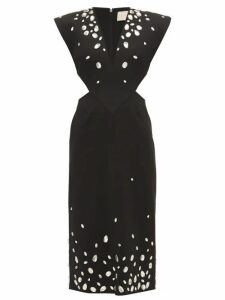 Christopher Kane - Crystal Embellished Cut Out Crépe Dress - Womens - Black