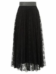 Christopher Kane - Crystal Embellished Floral Lace Skirt - Womens - Black