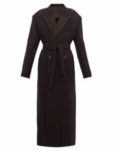 Raey - Exaggerated-shoulder Wool-blend Tux Coat - Womens - Navy