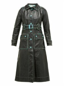 William Vintage - Courrèges 1960s Vinyl Trench Coat - Womens - Black Green