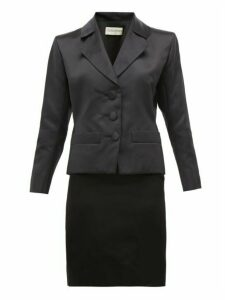 William Vintage - Ysl Haute Couture Satin Skirt And Blazer - Womens - Black