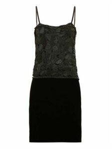 William Vintage - Ysl 1985 Sequinned Top And Velvet Skirt - Womens - Black