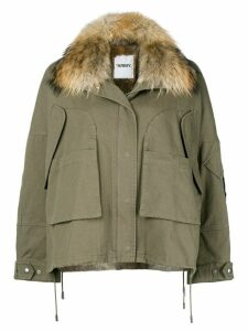 Yves Salomon Army oversize hooded parka - Green