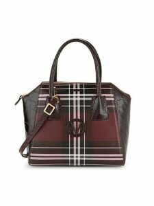 Mini Tartan Leather Satchel