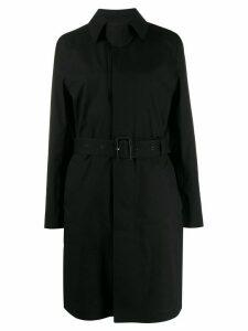 Saint Laurent belted coat - Black