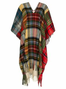 Rentrayage Technicolour Dream check poncho - Multicolour