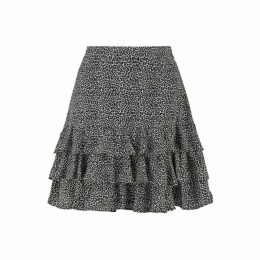 MICHAEL Michael Kors Mini Leopard Georgette Ruffled Skirt