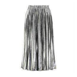 MICHAEL Michael Kors Foil Pleated Midi Skirt