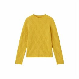 Jigsaw Lattice Stitch Crew Jumper