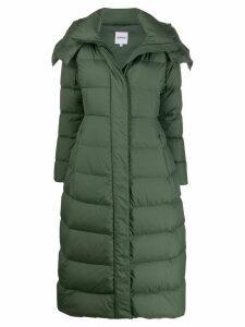 Aspesi long hooded down coat - Green