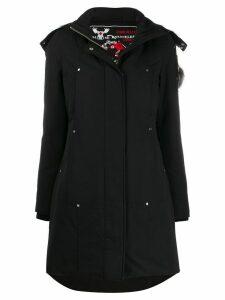 Moose Knuckles fox fur hooded parka - Black