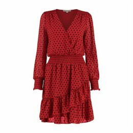 MICHAEL Michael Kors Dot Georgette Ruffle Dress