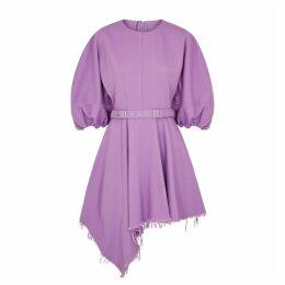 MARQUES' ALMEIDA Purple Belted Denim Mini Dress