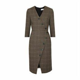 Cefinn Selby Checked Cotton-blend Dress
