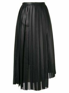 Tomorrowland pleated asymmetric skirt - Black