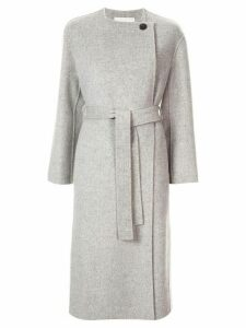 Tomorrowland collarless mid-length coat - Grey