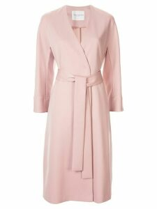 Tomorrowland belted single-breasted coat - PINK