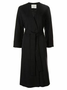 Tomorrowland belted single-breasted coat - Black