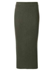 Tomorrowland ribbed-knit midi skirt - Green