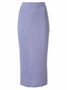 Tomorrowland ribbed-knit midi skirt - PURPLE