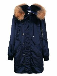 Dondup fur detail coat - Blue
