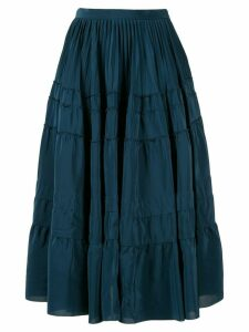 Rochas tiered midi skirt - Blue