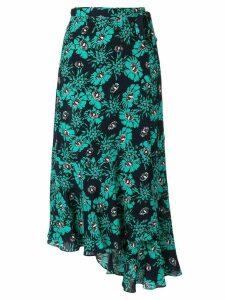 Markus Lupfer floral asymmetric midi skirt - Green