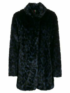 PS Paul Smith textured leopard print coat - Blue