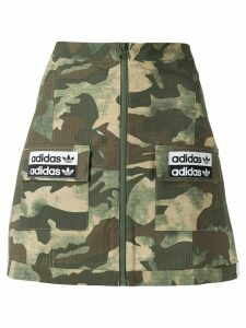 adidas A-line camouflage pattern skirt - Green