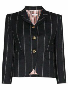 Thom Browne striped wool cropped blazer - Blue