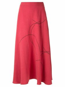 Alcaçuz Marcela printed skirt - PINK