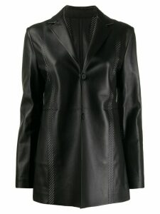 1017 ALYX 9SM fitted leather blazer - Black