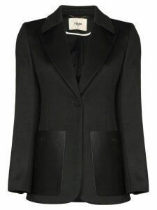 Fendi FF logo stripe blazer - Black
