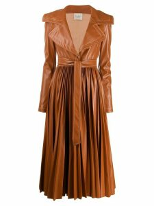 A.W.A.K.E. Mode pleated trench coat - Brown