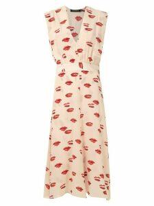 Andrea Marques printed silk dress - Neutrals
