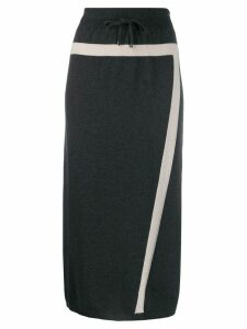 Lorena Antoniazzi knitted midi skirt - Grey