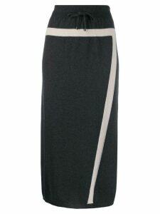 Lorena Antoniazzi knitted midi skirt - Grey