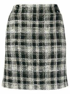 Veronica Beard check pattern straight skirt - Black