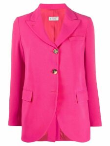 Alberto Biani woven single-breasted blazer - PINK
