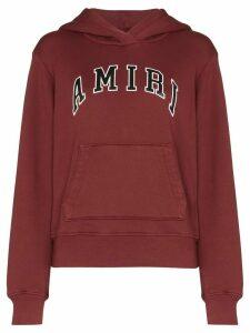 Amiri college logo hooded sweatshirt - Red