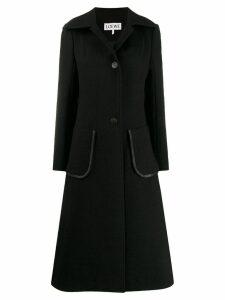 Loewe patch pocket coat - Black