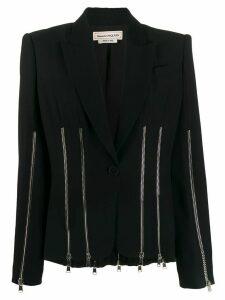 Alexander McQueen zip embellished blazer - Black