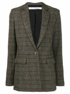 IRO houndstooth check longline blazer - Brown