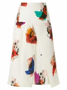 Andrea Marques panelled midi skirt - White
