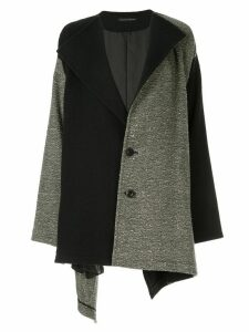 Y's V-neck block colour coat - Grey