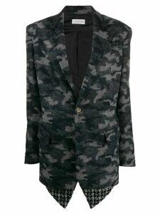 Faith Connexion camouflage print single-breasted blazer - Blue