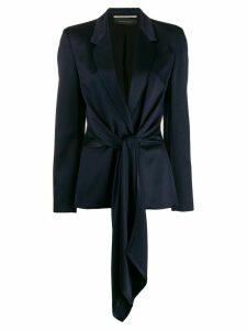 Roland Mouret V-neck tie waist blazer - Blue