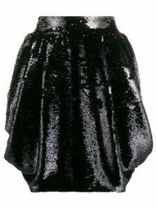 Alexandre Vauthier draped sequin skirt - Black